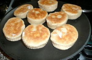 cooking muffins