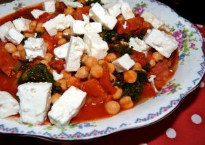 chorizo chickpea and kale stew